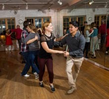 Swing Lindy Hop Classes in Dallas TX at the Rhythm Room Vow To Dance Ballroom Dance Studio