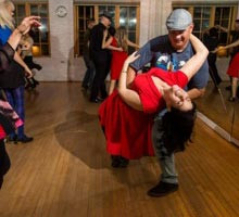 Lindy Hop Swing Dance Classes at the Rhythm Room Ballroom Dance Studio Dallas