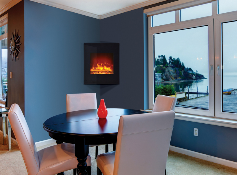 Corner Electric Fireplace Electric Flames