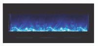 BI-FI-50‐flushmt‐blkgls Electric Fireplace