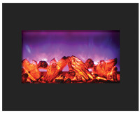 Amantii electric fireplace - ZECL‐26‐2923-BG