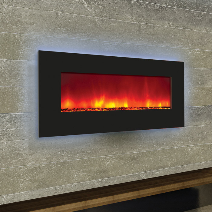 Amantii 34 Quot Wall Mount Or B I Back Lit Fireplace
