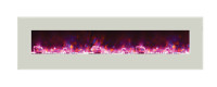 WM-BI-72-8123-WHTGLS Wall Mount / Built-In Electric Fireplace - rose flame