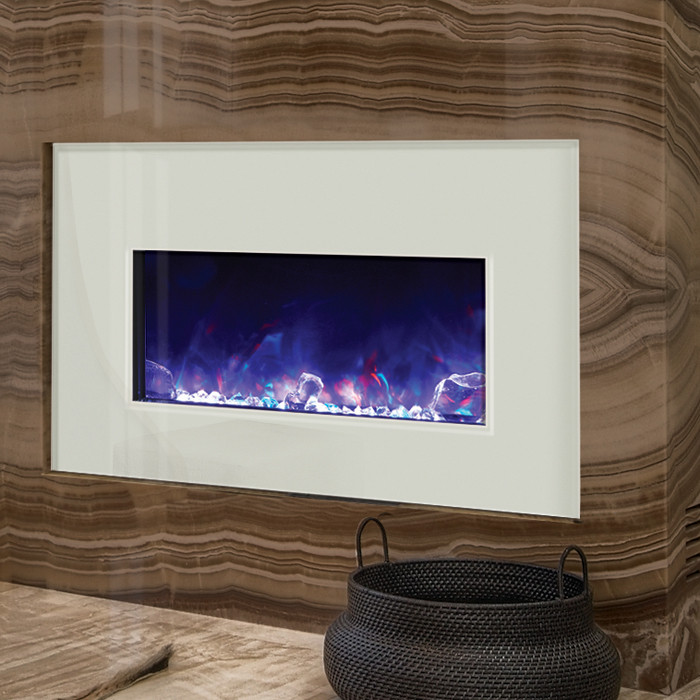 Amantii INSERT-30-4026-WHTGLS with purple fire glass media