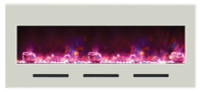 Amantii BI‐50‐FLUSHMT‐WHTGLS Electric Fireplace