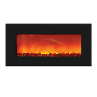 Sierra Flame WM-SLIM-36 - Wall Mount Zero Clearance Electric Fireplace