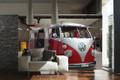 Red Campervan Giant Wallpaper VW Wall Mural