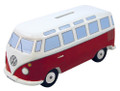 VW T1 Classic Red Campervan Money Box