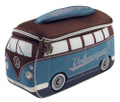VW Brown & Petrol Blue Campervan Universal Neoprene Wash Bag