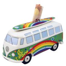 VW T1 Peace Green Campervan Money Box