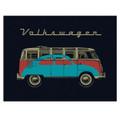 Volkswagen Bus & Bug Campervan Fleece Throw Blanket