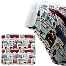 Volkswagen Catch The Waves Campervan Fleece Throw Blanket