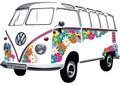 VW T1 Flower Classic Wall Decal Sticker