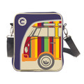 Small Retro Striped Campervan Tablet Shoulder Bag