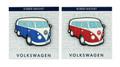 VW Campervan Rubber Fridge Magnet - Side View
