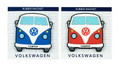 VW Campervan Rubber Fridge Magnet - Front View