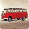 VW Red Campervan Collectible Single Coaster