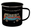 VW T1 Campervan Bus & Bug Enamel Tin Mug