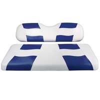 Madjax RIPTIDE White/Blue Rear Seat Cushion Set - Fits Genesis 150 Rear Flip Seat Kit