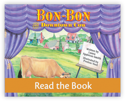 Bon-Bon the Downtown Cow full decodable book preview