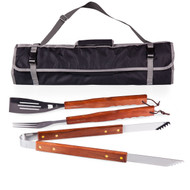 3-Piece BBQ Tote and Tools Set