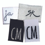 Personalized Fabric Clothing Label Initial Tabs