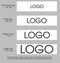 "1 1/2"" Custom Logo Satin Ribbon Logo Layouts"