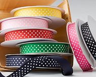 "5/8"" Grosgrain Dot Ribbon"