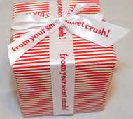 "Personalized Printed 1 1/2"" Satin Valentine Ribbon"