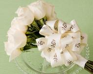 "Personalized 1 1/2"" Satin Wedding Ribbon"
