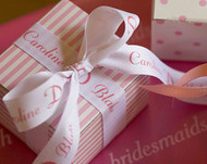 "Personalized 7/8"" Textured Wedding Ribbon"
