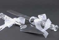 Personalized Crystal Cake Knife and Server Set