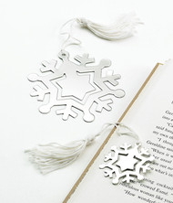 "Personalized 3.5"" Large Snowflake Bookmark"