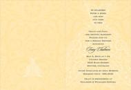 Yellow and Charcoal Wedding Dress Invitation