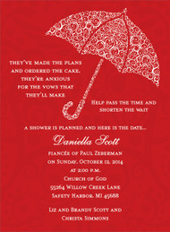 Red Umbrella Invitation