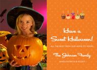 Candy Apple Halloween Photo Card