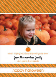 Striped Halloween Photo Card