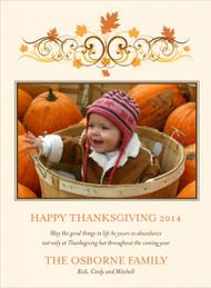 Autumn Swirls Photo Card