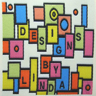 Colorful Square Collage Fabric Clothing Labels