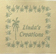 Palm Trees Woven Fabric Clothing Labels