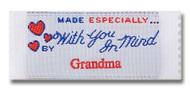 Made Especially with You in Mind Pre-Designed Woven Fabric Clothing Labels