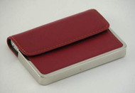 Crimson Half Flap Card Case