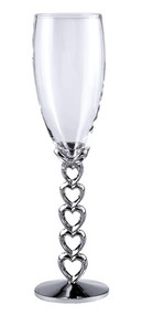 Pair of Nickel Plated Flutes with Open Hearts Stem