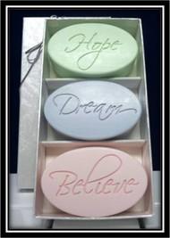 Hope, Dream, Believe Soap Trio Set
