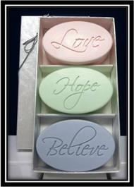 Love, Hope, Believe - Trio Soap Set