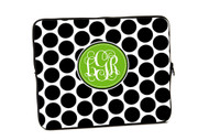 Black and White Polka Dot iPad and Laptop Sleeves