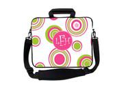 Pink and Green Caribbean Circles Laptop Bags