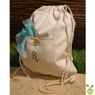 Eco Friendly 100% Organic Cotton Drawstring Backpack