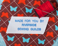 Sew on Clothing Labels - 1 Line Layout, Style 103