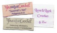 Personalized Fabric Crochet Labels - 3 Line Layout
